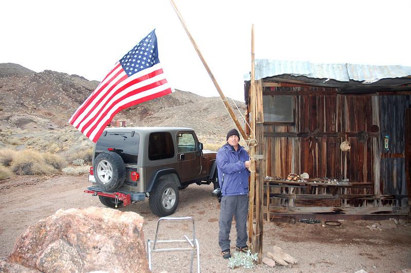 Joe hangs the flag, we'll stay here tonight.