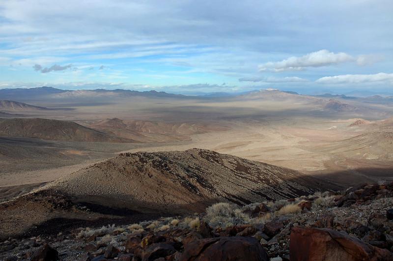 The ridge below