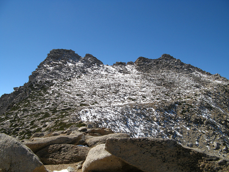 The summit on the right and back