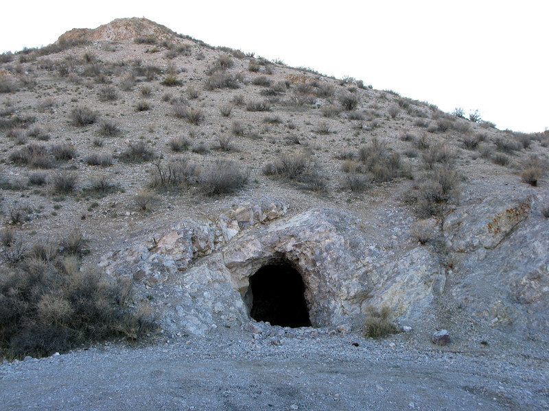 Old mining cave on the way to Inscription Canyon
