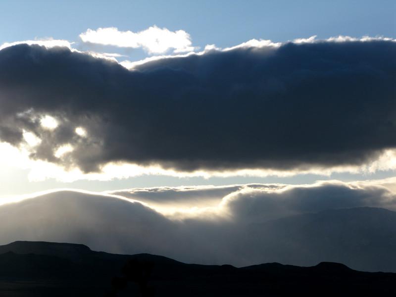 Weird cloud action driving back.