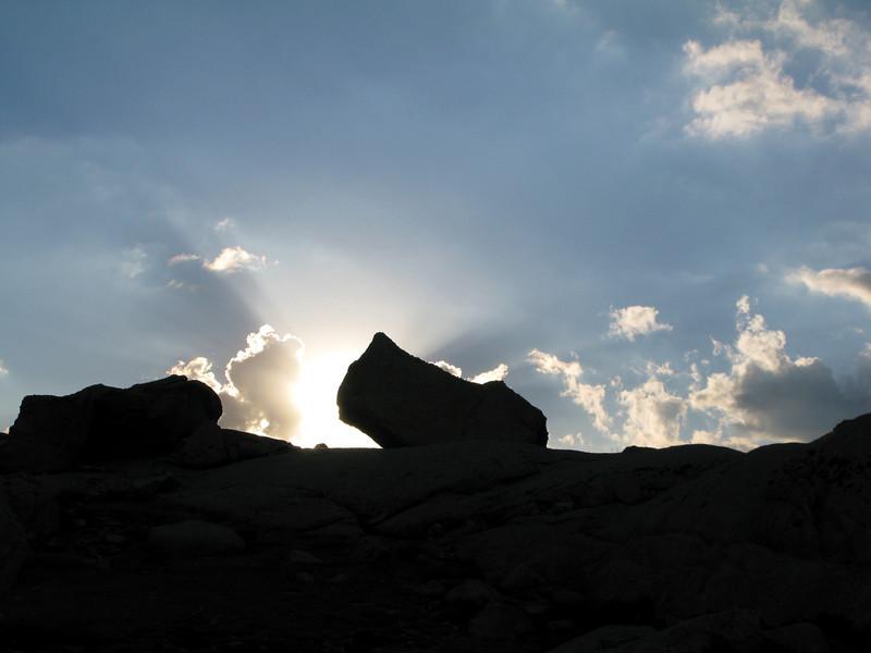 Big rock near camp