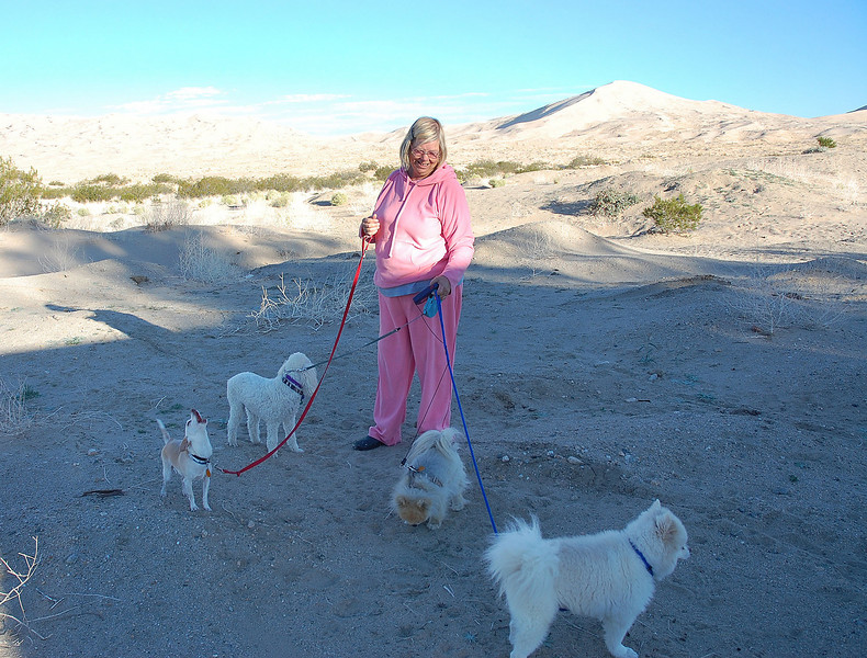 Rhonda and her doggies.