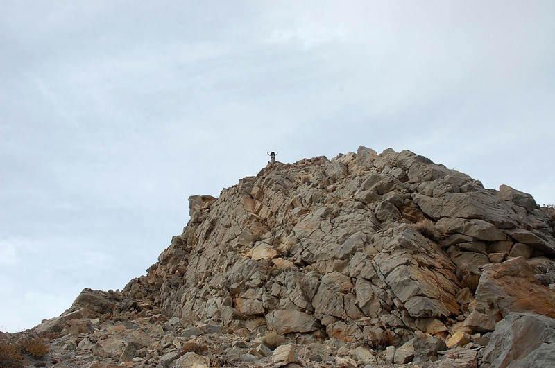 Cori on high point of South Crater