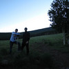 Chris and I at the trail head.  6:30am June 28th, 2008.