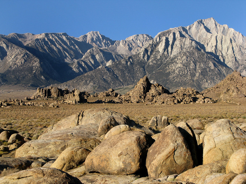 Langley and Lone Pine Peak from Alabama Hills.<br />  Nice weekend.