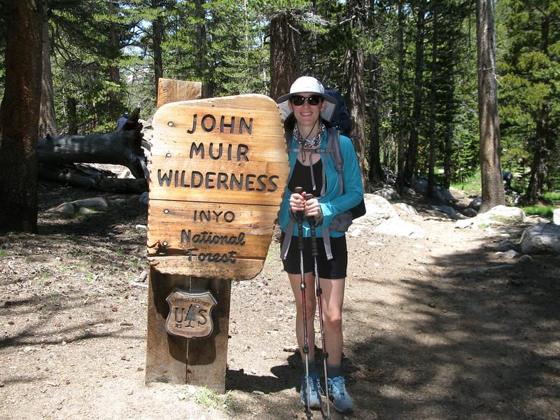 Erin enters John Muir Wilderness