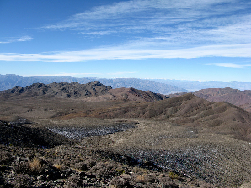 Looking towards Death Valley from the ridge