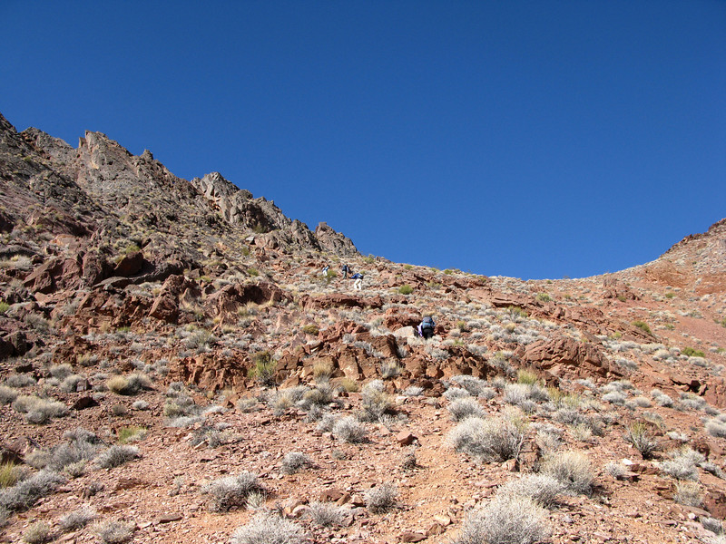 Coming up to the saddle below LCS, then turn right and climb up. Fun. We left our packs at the saddle