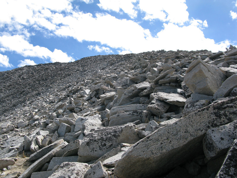 the lower part of ridge