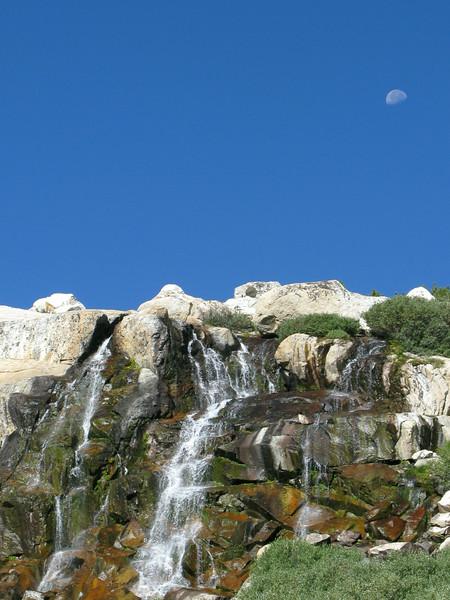 Waterfall and Moon