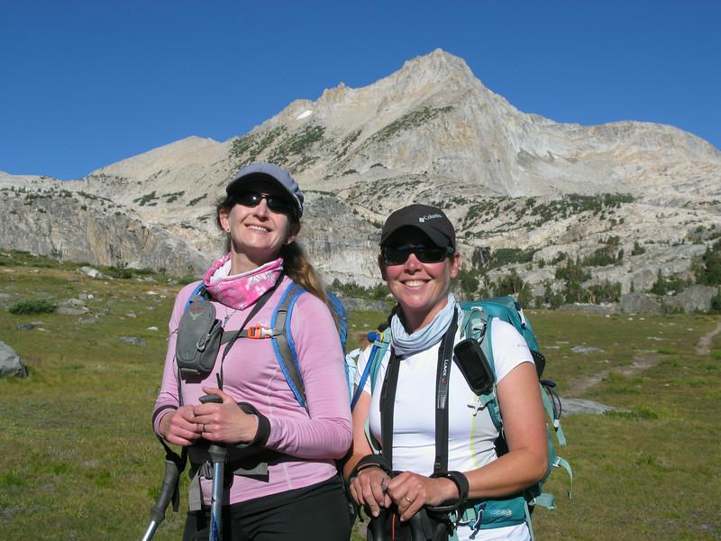 Pavla and Bex with North Peak