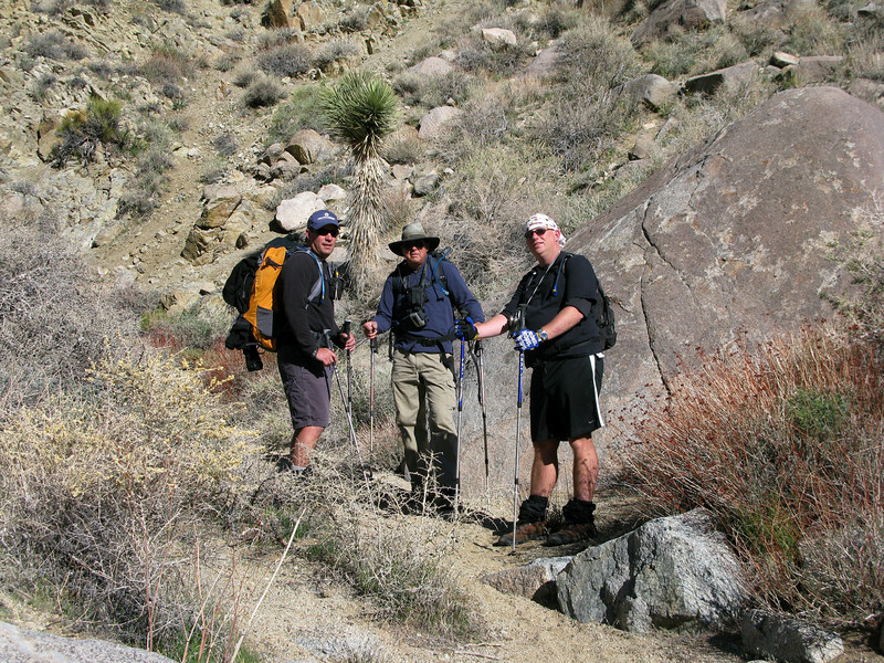 Starting out up the canyon. Chip, Tom G and Nathan. Nice to finally meet Nathan!