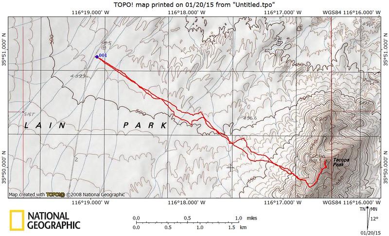 Tecopa Peak 2688'<br /> 6.22 miles<br /> +1108'