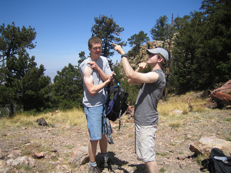 There's a reason I didn't make it to the top, Its because I don't have the muscle definition of my little brother... And I was blinded by the eternal whiteness of his body, And fell down the mountain.