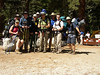 The group at the trail head on day one of the Whitney Hike.  From left to right:  Lisa, Linda, Andrew, Kenny, Shawn, Richard, Jacob and Jeff.