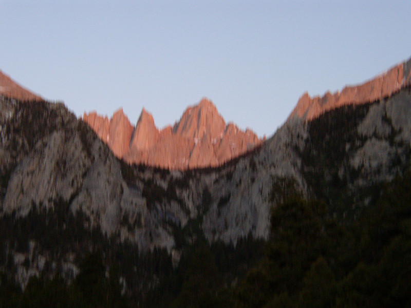 I convinced my friends Mike and Keith to join me on a three day hike of Mt Whitney and Russell.  Plan was to hike into UBSL set up camp and do a little hike to Thor and back on day one.  Day two Whitney and back to camp.  Day Three Russell and then pack up and hike out.