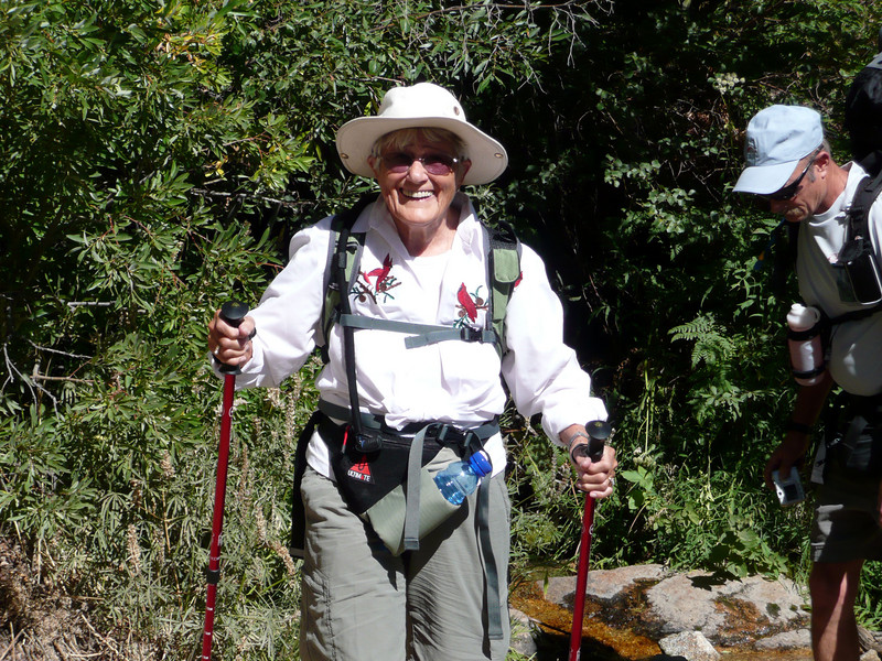 Met Lois on the trail, 82 years young and she made it to the top.