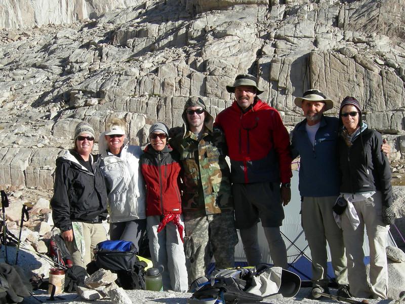 Linda, Patty Leslie, Eric, Richard, Bernie and Nancy at Trail Camp.