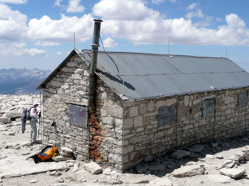 The summit hut.
