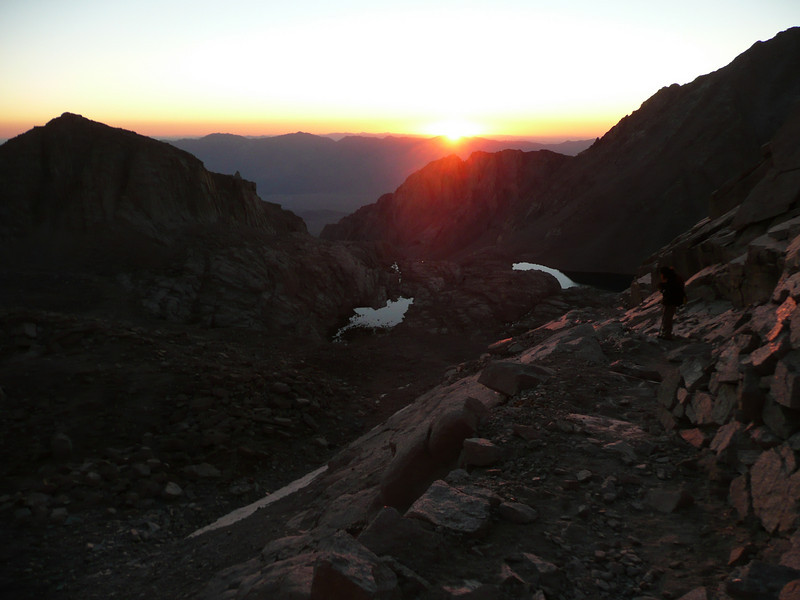 Sunrise from the Switchbacks.