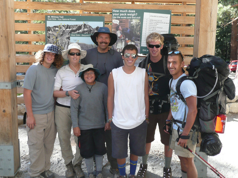 Devon, Linda, Tristan, myself, Travis, Aaron and Brandon at the Portal Trail Head