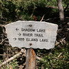 We decided to take the longer Shadow Lake trail.  Many more lakes and streams to see along this route.