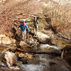 Luke and Clark making the first water crossing along the trail.