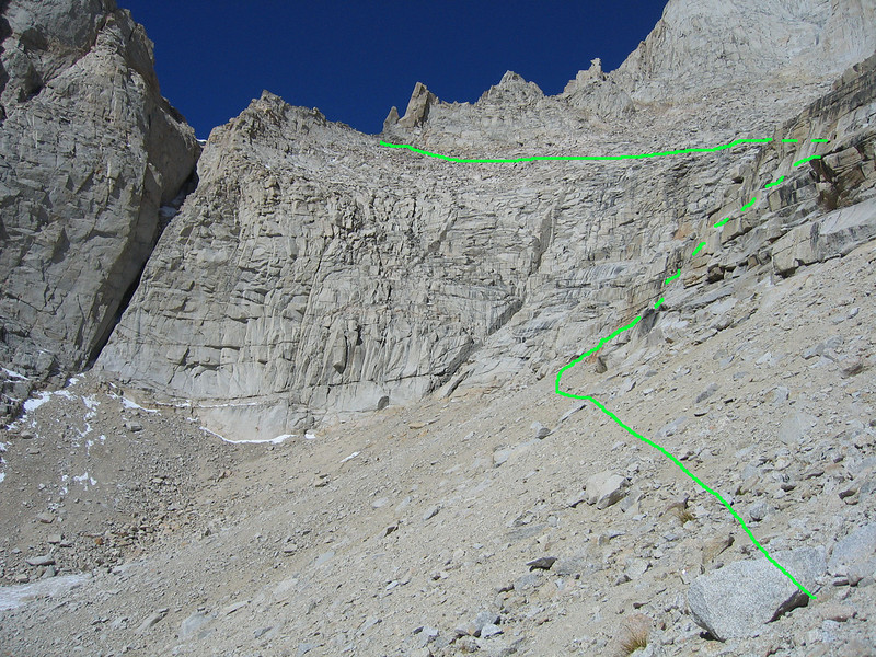 Ledges and traverse to the Sakai Col