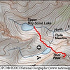 UBSL to Thor<br /> .7 Miles<br /> 922 Foot Elevation Gain/Loss