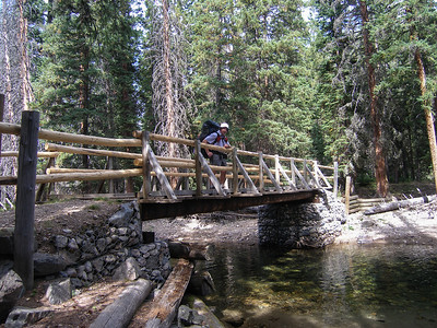 After about 3.5 miles along the East Fork of the Boulder River, the trail crosses on a very nice bridge.
