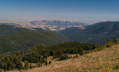 The trail flattens out a bit and affords some nice views back across the Gallatin Valley.
