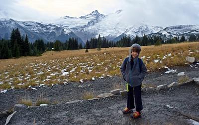 Hiking at Sunrise, Mt. Rainier