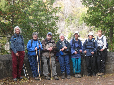 At the end of our first hike on Monday, Oct. 19 near Eugenia Falls