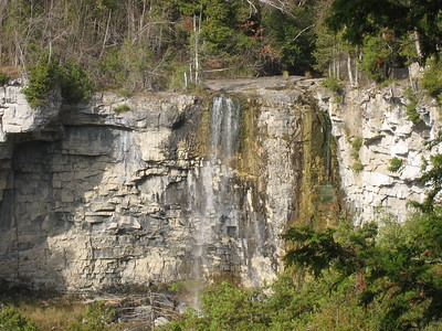 Eugenia Falls - Much of the water to the falls was diverted for a hydro electric plant
