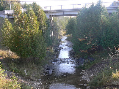 View from a pedestrian bridge over the Beaver River
