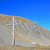 Wooden Cross on a Mountain Pass