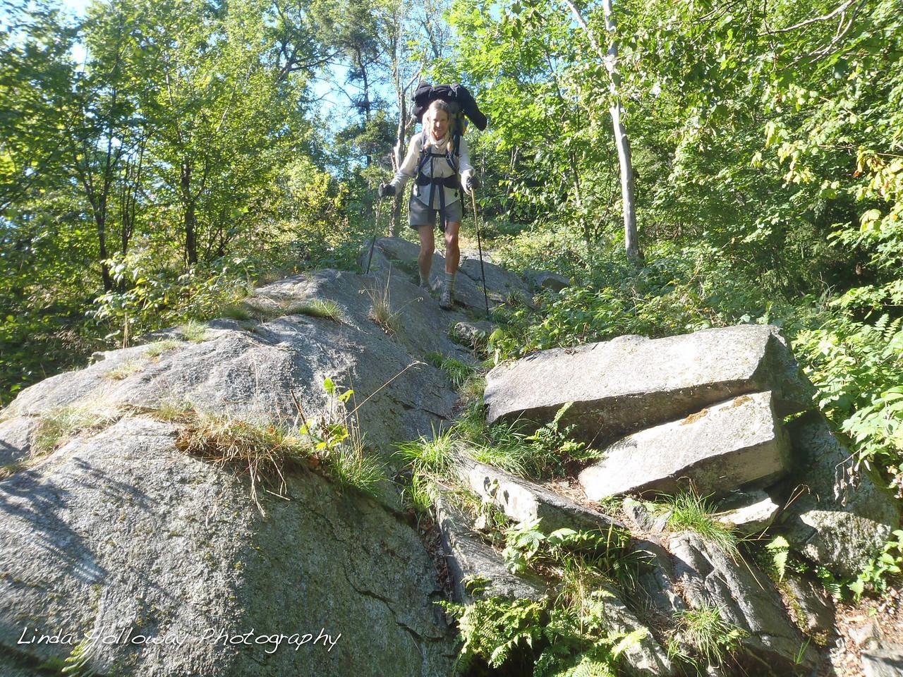 Walking on lots of rocks today.
