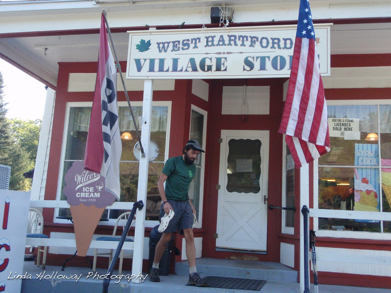 We stopped at the West Hartford Village Store.  It was a stop for other hikers also.