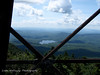 This is a picture from the fire tower.  Great views of the lake, mountains and clouds.