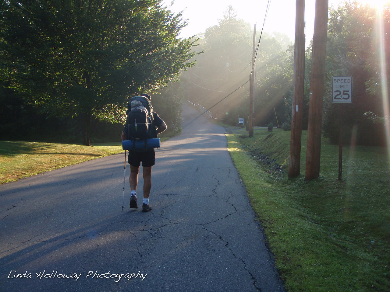 We started walking down the road to Hanover, New Hampshire.
