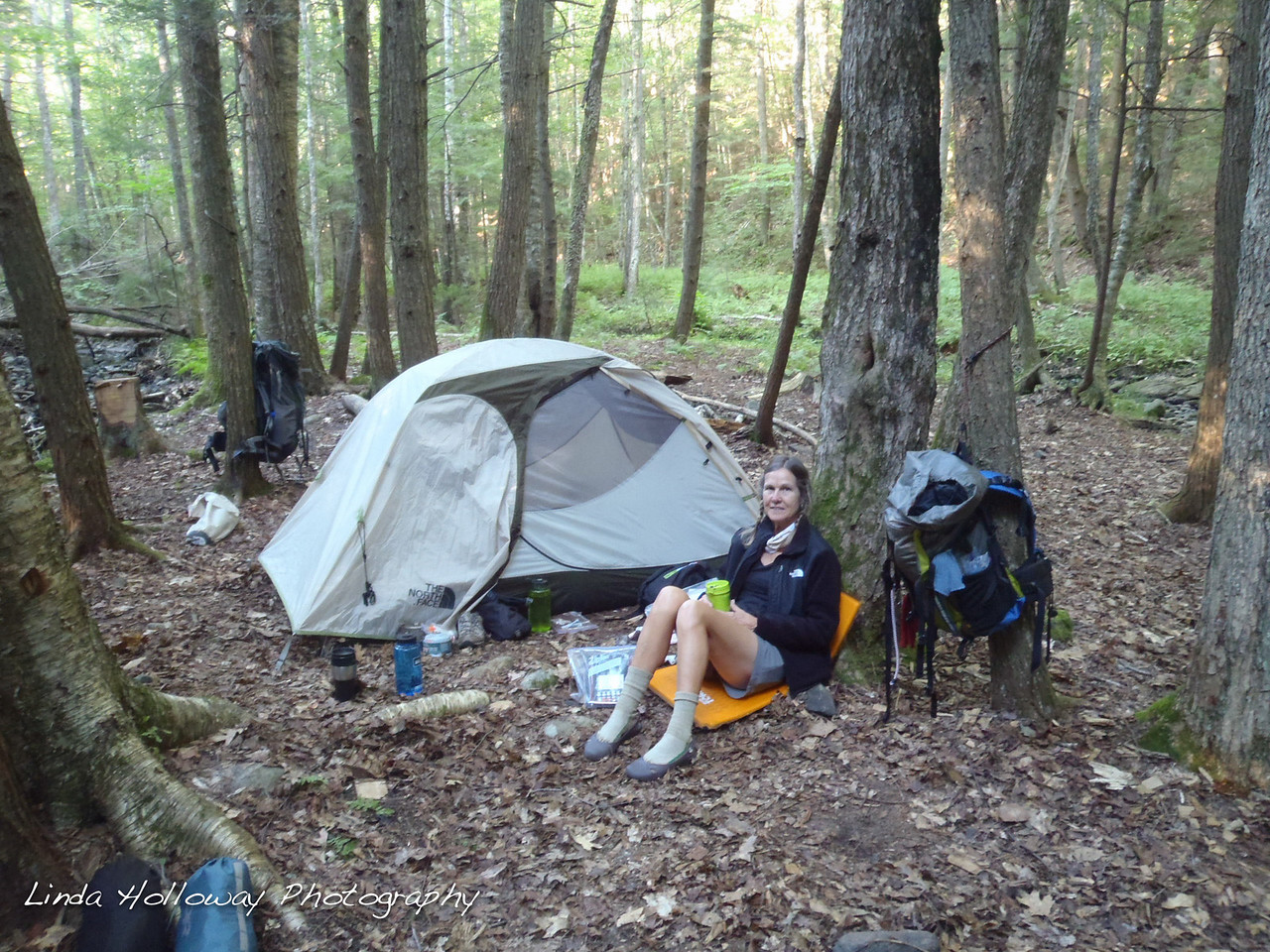 We are camping by a babbling brook tonight (Mink Creek).  We crossed the brook and camped on the island with the brook surrounding us.  Plenty of Water.  Love it.
