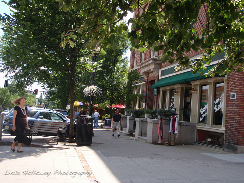 Hanover, New Hampshire is a college town.  Dartmouth College.  Lots of small shops and lots of activity.