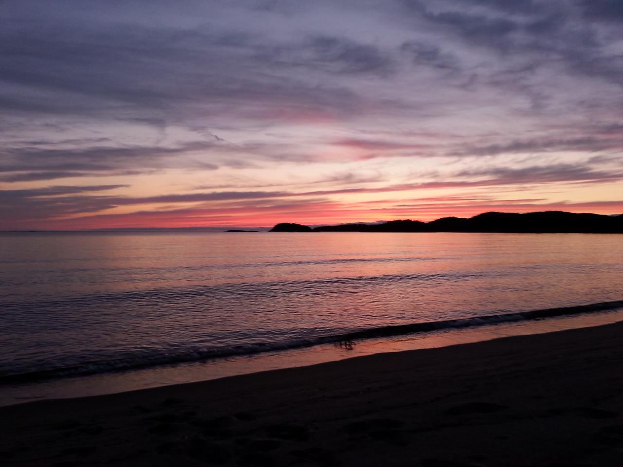 Sunset from Oiseau Bay