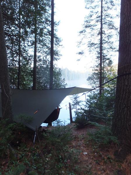 Susan Lake, morning view.  It got down to 3 degrees that night.