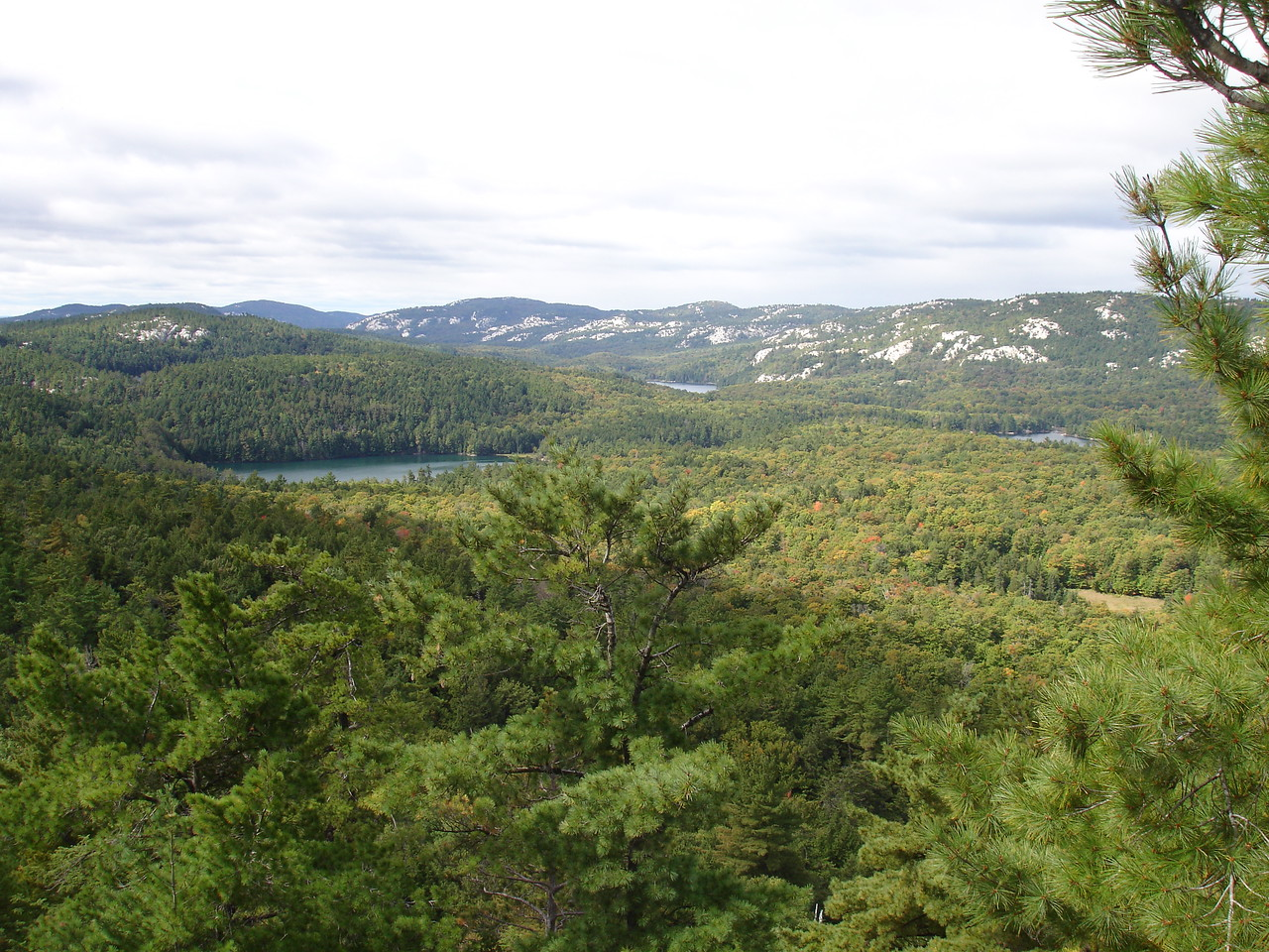 That line of hills is the Blue Ridge of the La Cloche Mountains