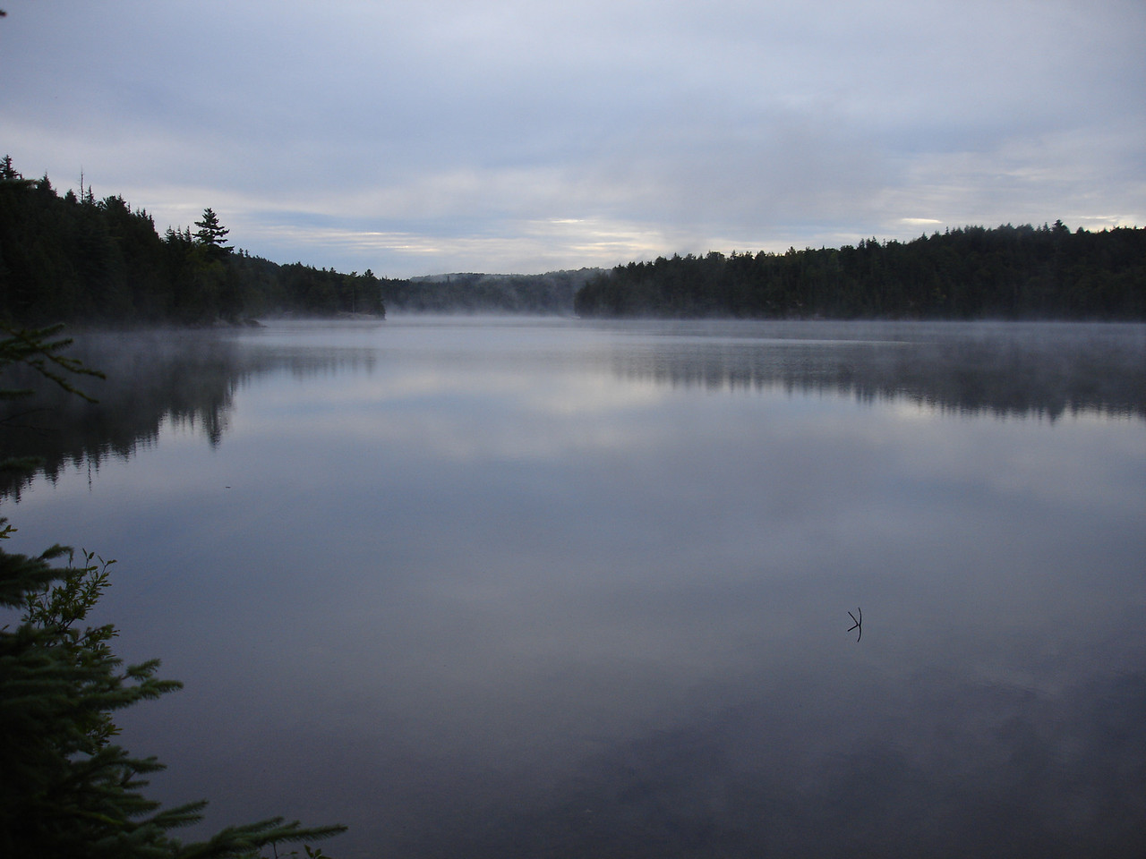 Mist on Harness Lake