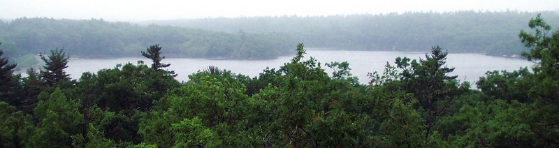 Looking north on Walden Pond, from the ledges a little west of Fuller Hill.