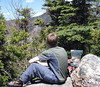 AndyF, gazing west at Whiteface, from the viewpoint of Hibbard.