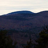 Looking NW over Hills Pond to the Belknaps - Mt. Belknap on R, Whiteface on L.